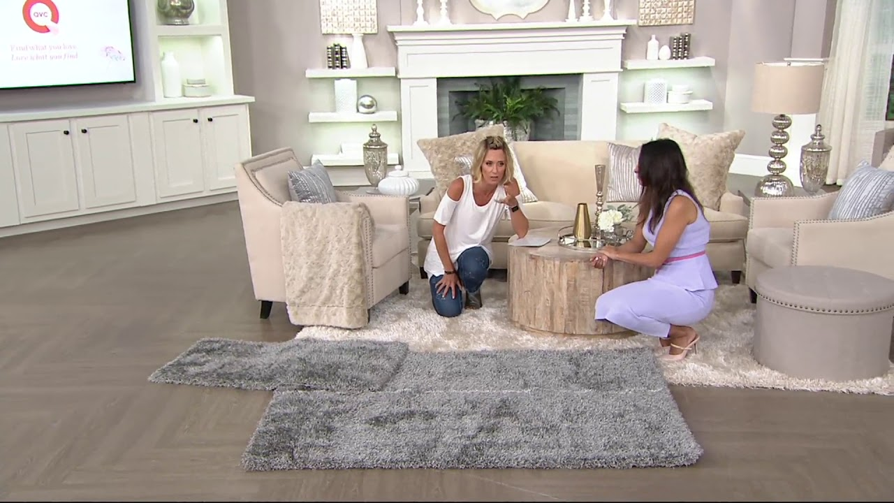 Inspire Me Home Decor Luminance Shag Rug On Qvc Youtube