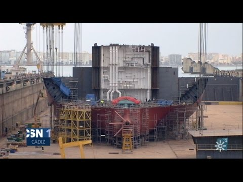 Construcción de un petrolero tipo Suezmax en los astilleros de Navantia