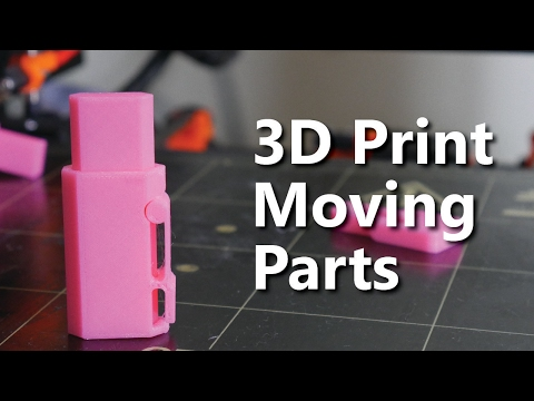 How to design 3D Printable Hinges - Make moving parts!