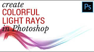 Make Colorful Smoke in Photoshop CC 2014 - Colored Ribbons of Light