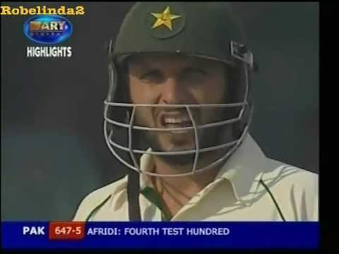 Shahid Afridi 103 vs India 7 SIXES! 1st test 2006