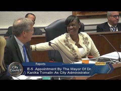 Deputy Mayor Dr. Kanika Tomalin confirmed as City Administrator