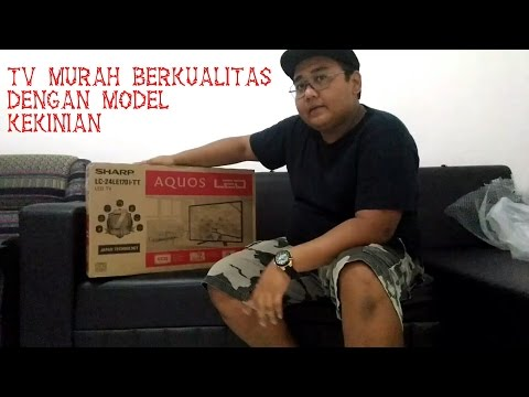 UNBOXING LED TV SHARP 24 INCH
