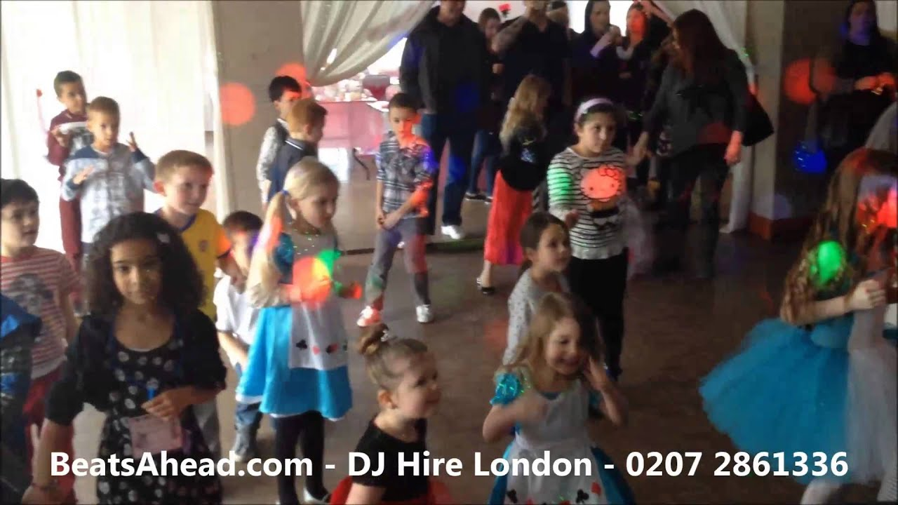 DJ Hire London Kids Disco Party DJ April Ruby Th Birthday - Childrens birthday party ideas in london