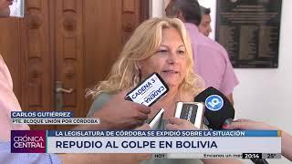 Sin el apoyo del Pro, la Unicameral repudió el golpe de Estado en Bolivia