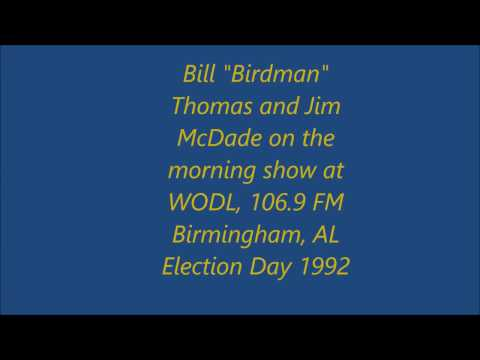 The Birdman and Jim McDade on Birmingham Radio, 1992