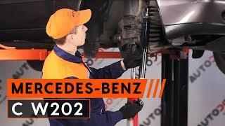 Hogyan cseréljünk Lengéscsillapító szett MERCEDES-BENZ C-CLASS (W202) - online ingyenes videó