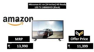 Micromax 61 cm 24 Inches HD Ready LED TV 24B600HDI Black