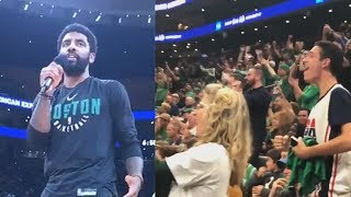 Kyrie Irving Shocks Celtics Crowd By Announcing He's Re-signing with Boston Celtics!