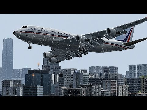 Boeing 747 Crashes In Hong Kong | Into The Storm | China Airlines Flight 605