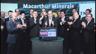 Macarthur Minerals (MMS:TSX) opens Toronto Stock Exchange, November 15, 2011.