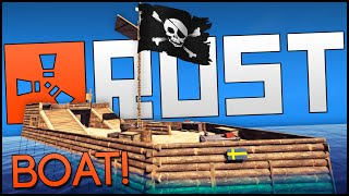 Rust Multiplayer Gameplay Part 6 - Boat Building, Pirate Ship & Devblog 64.1!