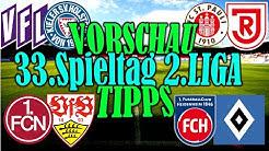 33.Spieltag 2.Liga VORSCHAU und TIPPS / Duell um den Aufstieg (HDH - HSV) + 6 Teams vs. ABSTIEG!