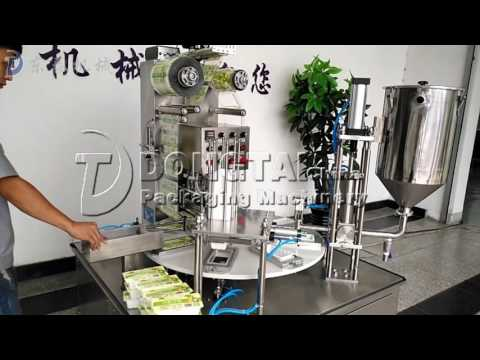 Fully automatic cup filling sealing machine, bean curd cup filling sealing machine