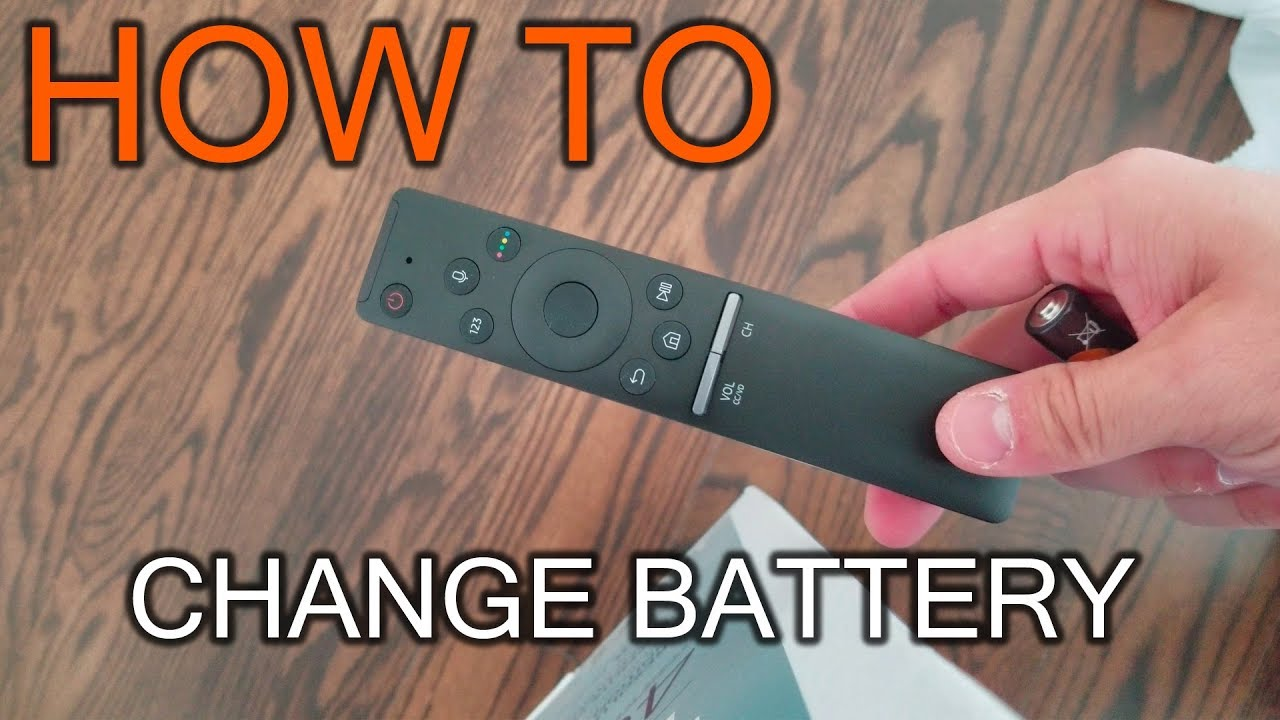 how to change the batteries on a samsung smart tv remote