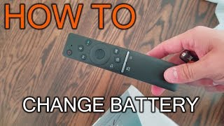 How to Change Battery in Samsung TV Remote