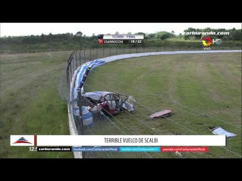 Mirá el video del durísimo accidente en la final del TC2000 a 200km/h