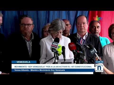 Movimiento Soy Venezuela solicitó a la AN aprobar el artículo 187 de la Constitución