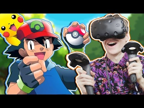 POKÉMON IN VIRTUAL REALITY! | Pokémon VR: Ash's Room (HTC Vive Gameplay)