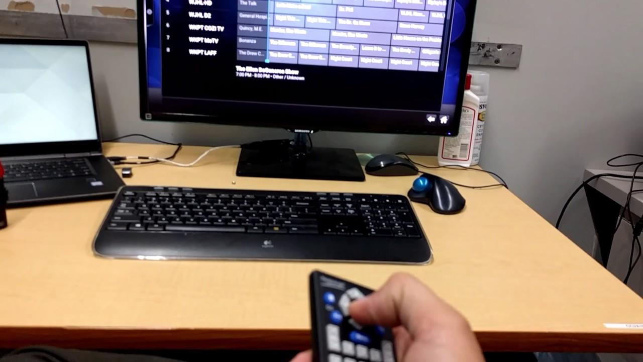 Kodi with Tvheadend, a Hauppauge WinTV-DualHD, and lirc/irexec