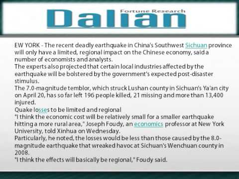 Lushan quake to have limited impact on China economy