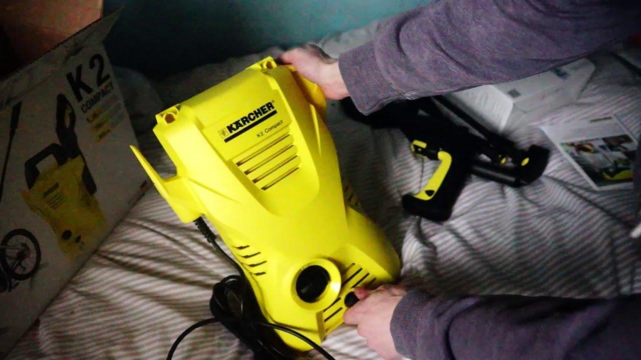 karcher k2 compact pressure washer unboxing youtube. Black Bedroom Furniture Sets. Home Design Ideas