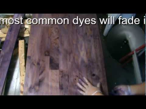 HOW TO USE FABRIC DYE TO STAIN WOOD  TUTORIAL