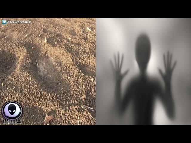 "Giant ""ALIEN FOOTPRINTS"" Panic Indian Villagers 7/12/17"