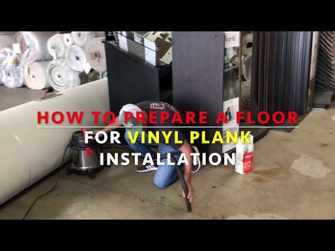 How to Prepare a Floor for Vinyl Plank Installation (2018)
