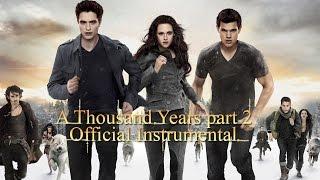A Thousand Years part 2 - Karaoke (Official Instrumental- Breaking Dawn part 2)