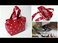 How to sew a Handbag - Step by Step Tutorial (Box Bag Pattern)