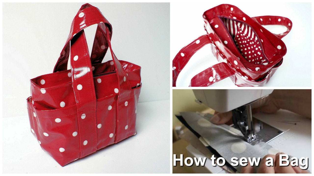 11527e6b0f How to sew a Handbag - Step by Step Tutorial (Box Bag Pattern) - YouTube