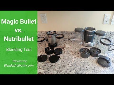 Magic Bullet Vs Nutribullet Blender Test