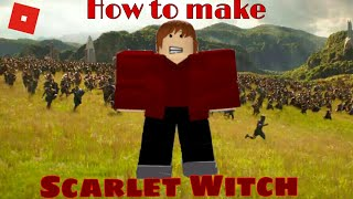 How to create Scarlet Witch in Roblox Superhero life 2