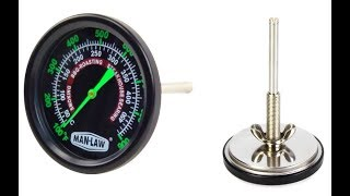 MAN-T702BBQ  Grill / Smoker Thermometer with Glow in the Dark Pointer and Dial