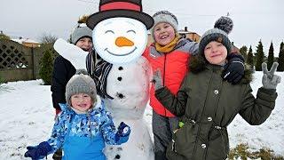 ULEPIMY DZIŚ BAŁWANA ? :) + NOWY PLUSZAK, Bitwa na śnieżki