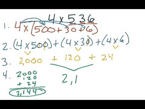 expanded form using multiplication  15th Grade GoMath 15.15 - multiply using expanded form