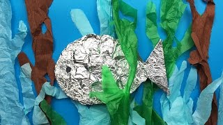 How to make a fish - simple art and craft project for preschool and kindergarten kids