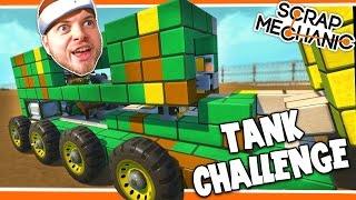 Scrap Mechanic! - TANK CHALLENGE! Vs AshDubh - [#23] | Gameplay |