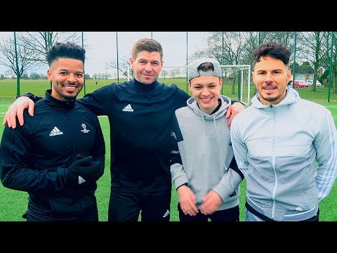 FILMING WITH F2 & STEVEN GERRARD! *UNSEEN FOOTAGE*