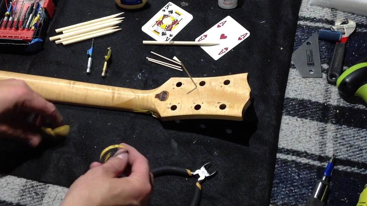 guitar tuner screw hole repair youtube. Black Bedroom Furniture Sets. Home Design Ideas