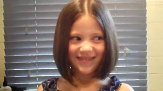 Learn how to cut kids childrens girls hair restyle long to short bob