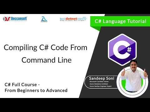 Part 6 - Compiling C# code using CSC.Exe at Command Prompt C#