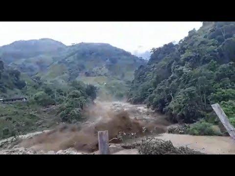 Así fue la llegada de la avalancha a Puerto Venus - Nariño Colombia | Noticias Mundo