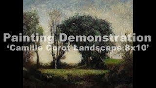 Camille Corot Landscape 8x10 Tonalist Landscape Oil Painting
