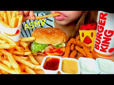 *No Talking* ASMR Burger King WHOPPER 🍔🍟 Mukbang 먹방 French Fries & Chicken Fries