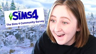 NEW WINTER PACK FOR THE SIMS?! | Community Survey