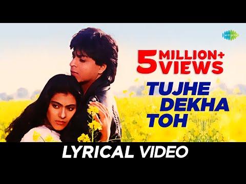 """Tujhe Dekha"" Song With Lyrics | ""तुझे देखा"" गाने के बोल | DDLJ | Shah Rukh Khan, Kajol"