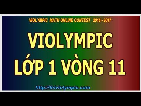 Maths Grade 1 |Thi Violympic Giải toán trên mạng  Lớp 1 Vòng 11 Năm 2017