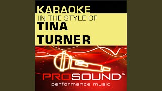 Proud Mary (Karaoke Instrumental Track) (In the style of Tina Turner)